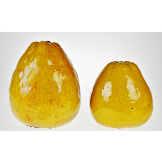 Vintage Art Pottery Ceramic Asian Pears - A Pair For Sale - Image 12 of 12