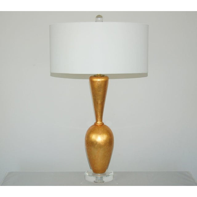 Contemporary The Gold Leaf Plaster Table Lamps by Swank Lighting For Sale - Image 3 of 11