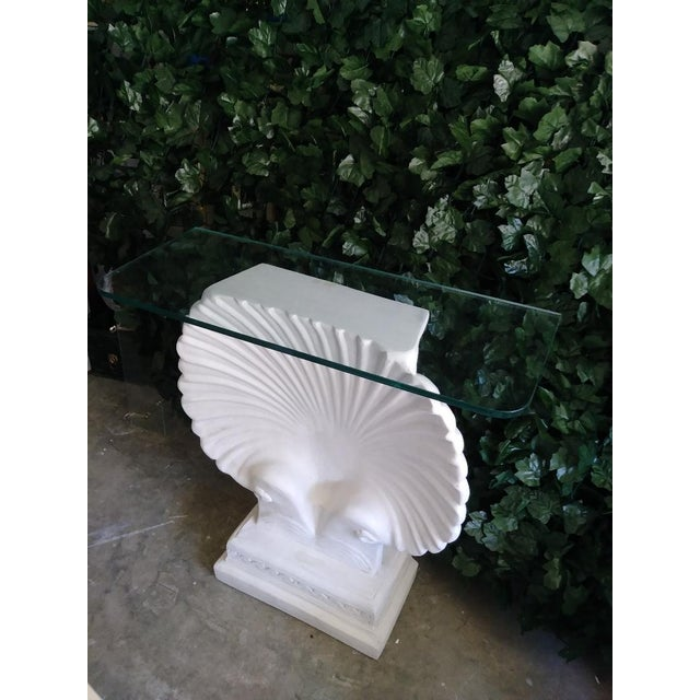 Monumental SeaShell Form Console Table Base Grosfeld House Style For Sale In West Palm - Image 6 of 6