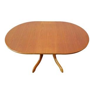 Scandinavian Modern Influenced Gate-Leg Drop-Leaf Teak Dining Table by Morris of Glasgow, Scotland For Sale