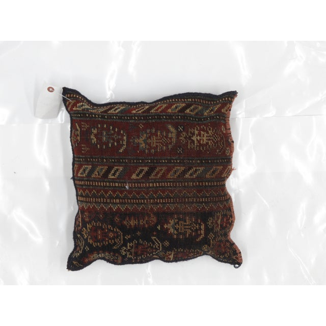 Persian Persian Pillow W/ Antique Rug Fragment - 1'5 X 1'5 For Sale - Image 3 of 3