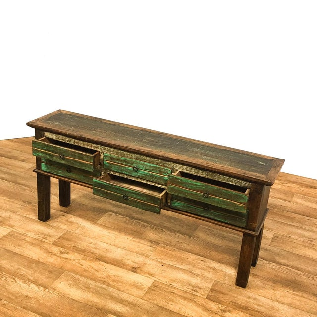 Antique Peroba Wood Console Table - Image 2 of 5