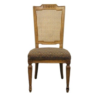 Late 20th Century Vintage Drexel Heritage Grand Tour Collection Cane Back Side Chair For Sale
