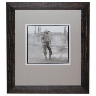 1970s Country Silver Gelatin Photograph of a Cowboy For Sale
