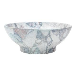 "Large Decorative ""Marbled"" Ceramic Bowl For Sale"