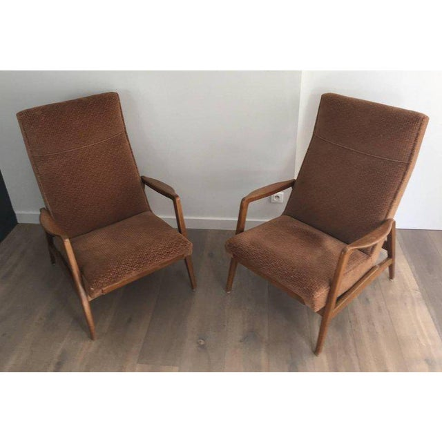 Rare Pair of Reclining Armchairs by Knoll Antimott - Image 2 of 11