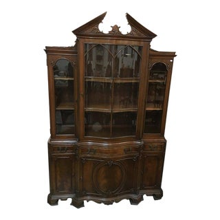 Antique Wooden China Hutch