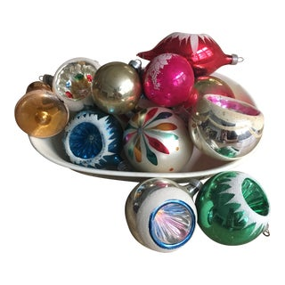 1950s Vintage Hand Blown Christmas Ornaments- Set of 12 For Sale