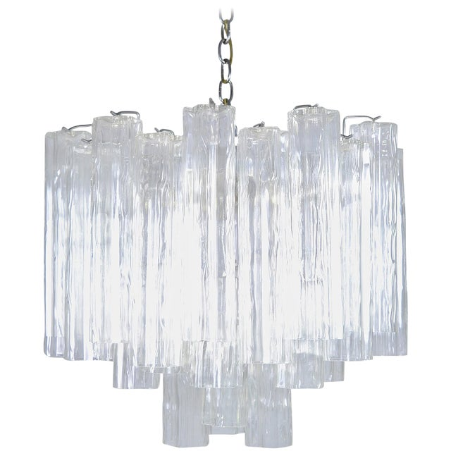 Murano Glass Tronchi Chandelier For Sale