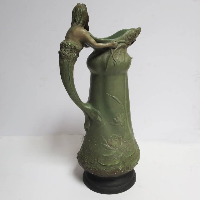 """Art Nouveau Ceramic """"Merman"""" Pitcher For Sale - Image 4 of 6"""