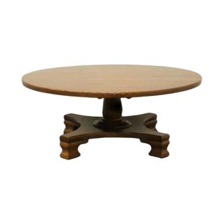 20th Century Traditional Temple Stuart Pioneer Treasury Rockport Maple Coffee Table For Sale