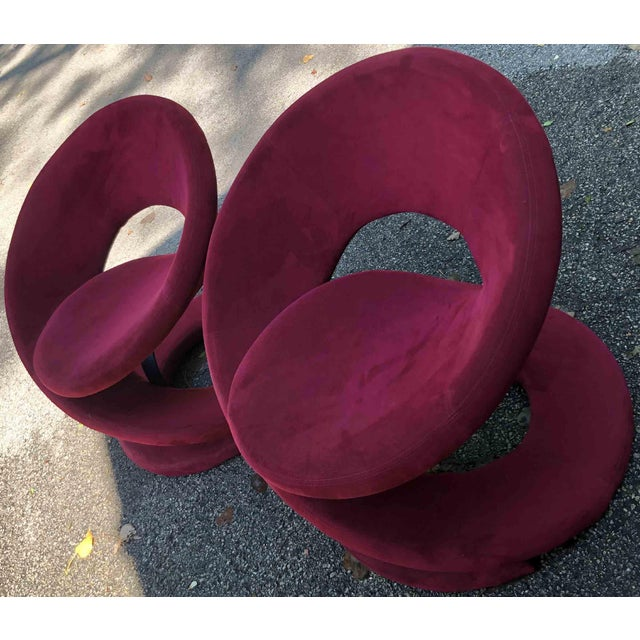1980s 1980s Vintage Jaymar Spiral Chairs- a Pair For Sale - Image 5 of 10