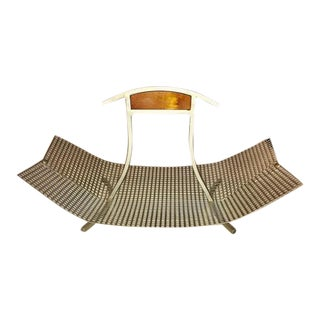 French Mid Century Modern Metal Mesh Basket/ Tray For Sale