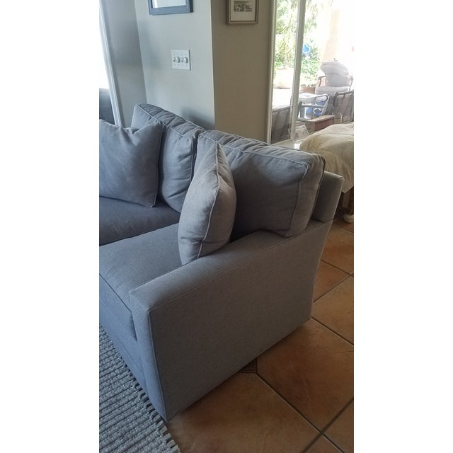 Lexington Bristol Grey Performance Fabric Loveseat & Couch Sofa - a Pair For Sale - Image 12 of 13