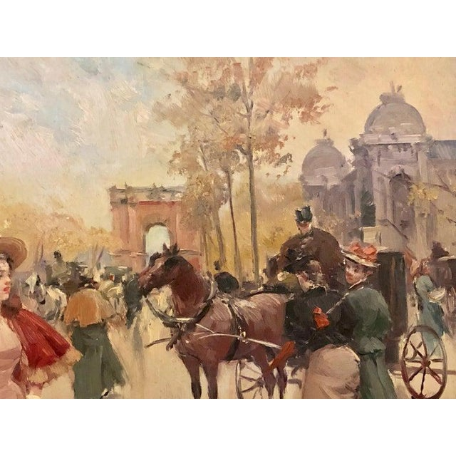 Light Pink French Oil on Canvas by Karine Girard 'French 1965' or a Paris Street Scene For Sale - Image 8 of 13