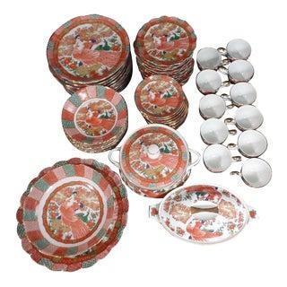 Imari Arita Japanese Peacock Porcelain Tableware