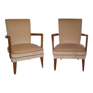 Pair of Italian 40s Armchairs For Sale