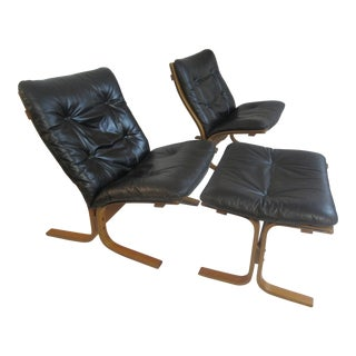 Westnofa Siesta Chairs by Ingmar Relling With Ottoman