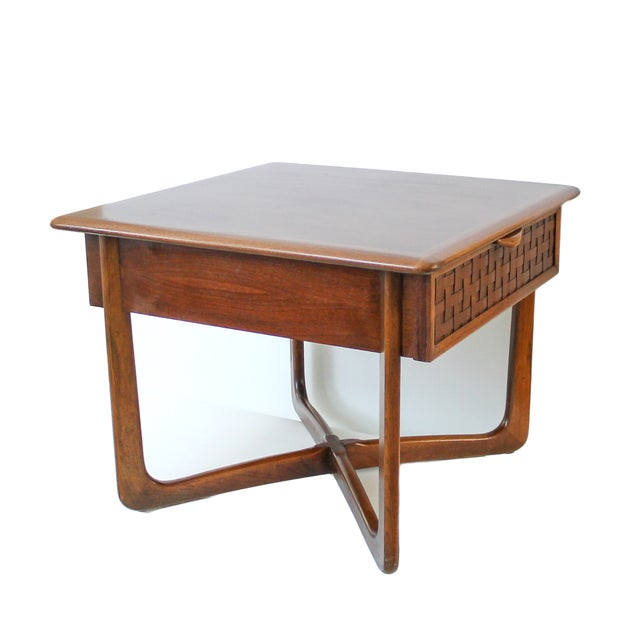 Mid-Century Lane Perception X-Base End Table - Image 6 of 10