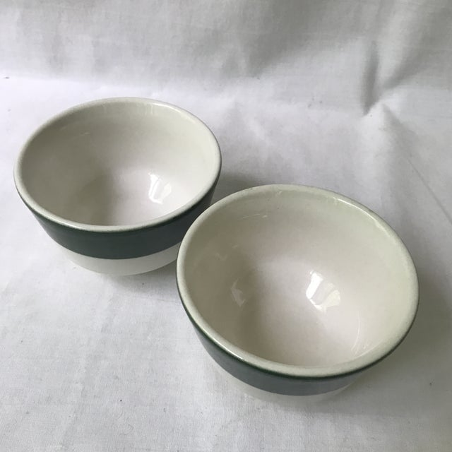 Homer Laughlin Green Band Bowls - A Pair For Sale - Image 4 of 6