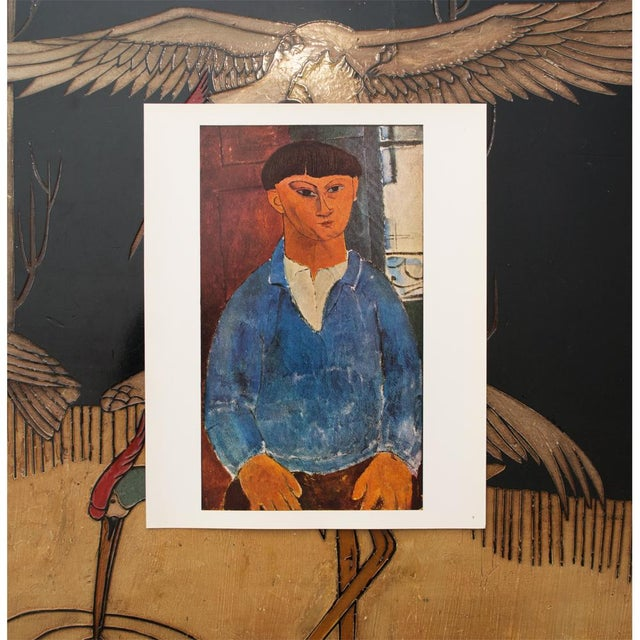 "1953 Vintage Full Color Art Plate /""JEANNE HEBUTERNE/"" by MODIGLIANI Lithograph"