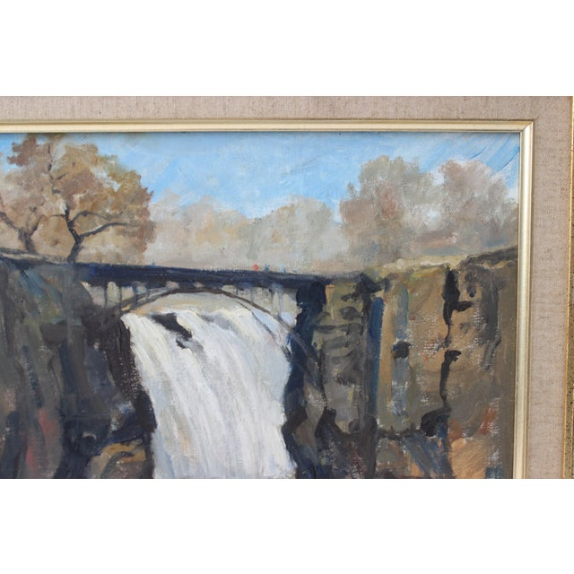 """Vintage Oil Painting """"Paterson Falls"""" John Elliot, Opa For Sale - Image 4 of 12"""