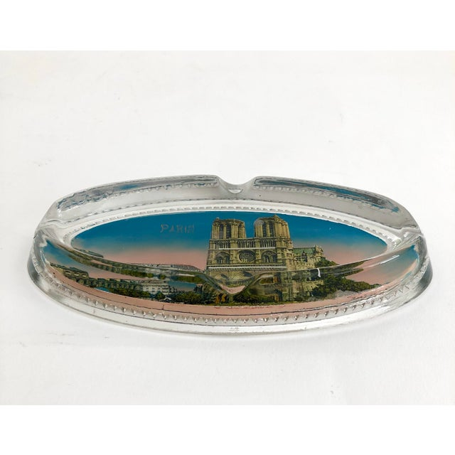 Boho Chic 1940s Paris Souvenir Ashtray For Sale - Image 3 of 7