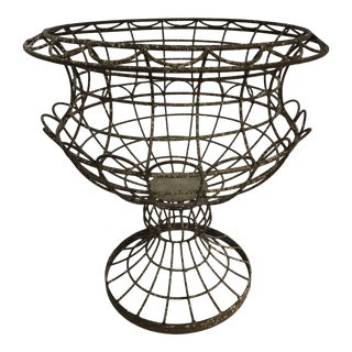 French Reproduction Wire Petal Basket For Sale