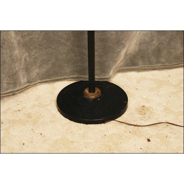 Metal Mid Century Modern Black Double Gooseneck Floor Lamp For Sale - Image 7 of 11