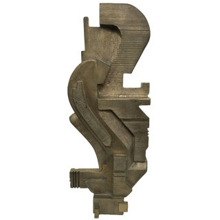 Bronze S-Curve Sculpture by Contemporary Artist Michael Walsh For Sale
