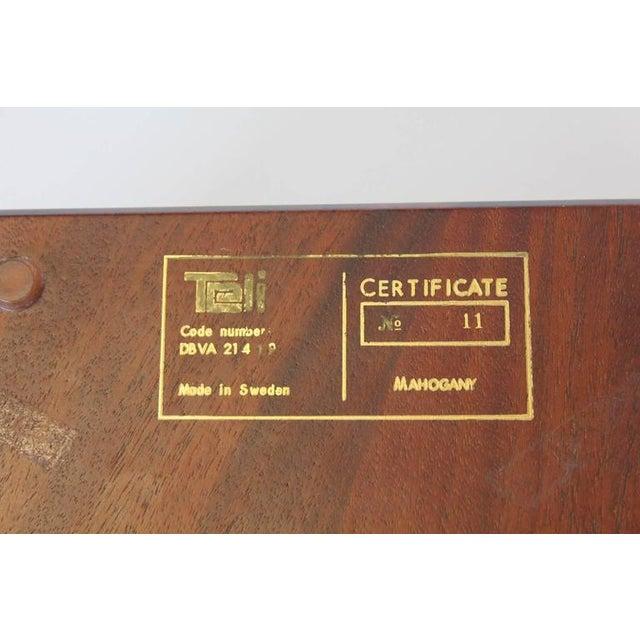 Mid-Century Modern Swedish Mahogany & Orrefors Crystal Phone For Sale - Image 3 of 5