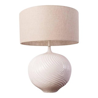 Hand Textured Ceramic Lamp For Sale