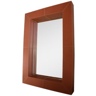 Brooke Leather Mirror For Sale