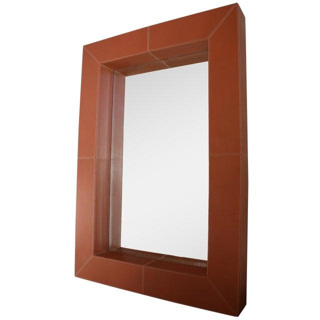 Brooke Leather Mirror Chairish