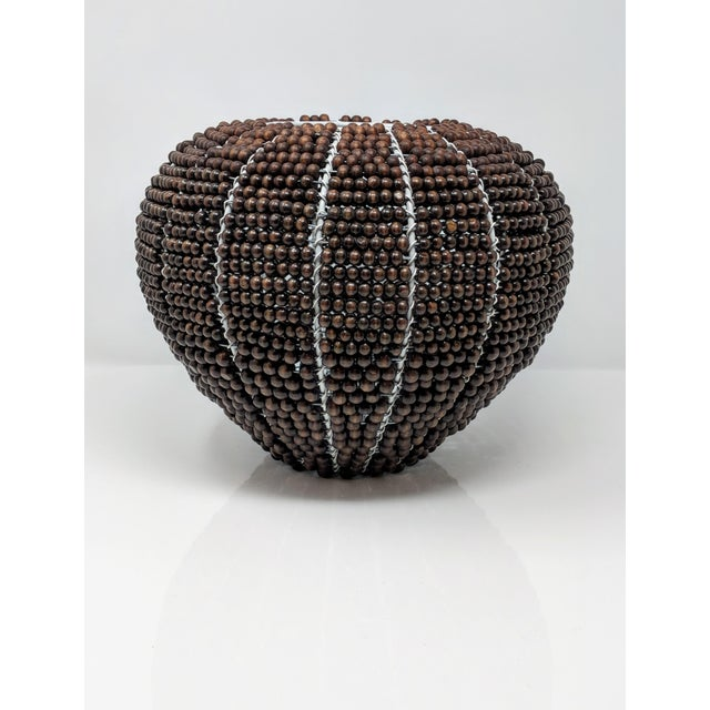 Tribal Fair Trade Beaded Vase For Sale - Image 13 of 13
