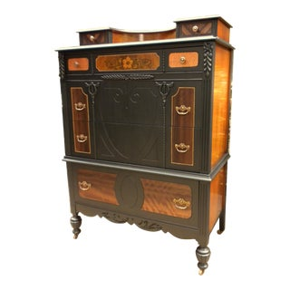 1920s Vintage The H. Krug Furniture Company Artisan Wood Dresser