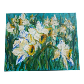 "Mid-Century ""Daffodil"" Oil Painting For Sale"