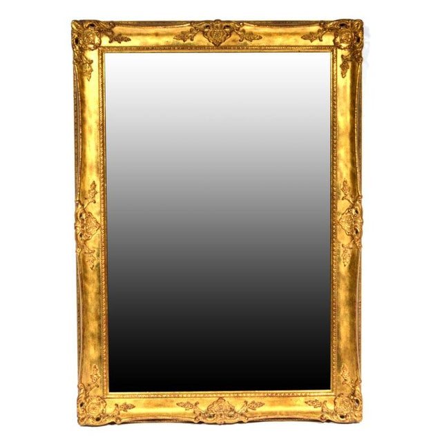 Hollywood Regency La Barge Gold Tone Beveled Glass Mirror For Sale - Image 9 of 9