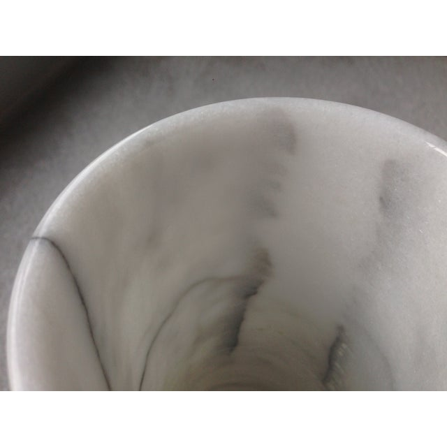 "Vintage 17"" White Marble Vase - Image 5 of 11"