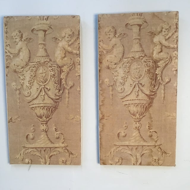 18th Century French Textile Printed Linen Panels - a Pair For Sale - Image 13 of 13