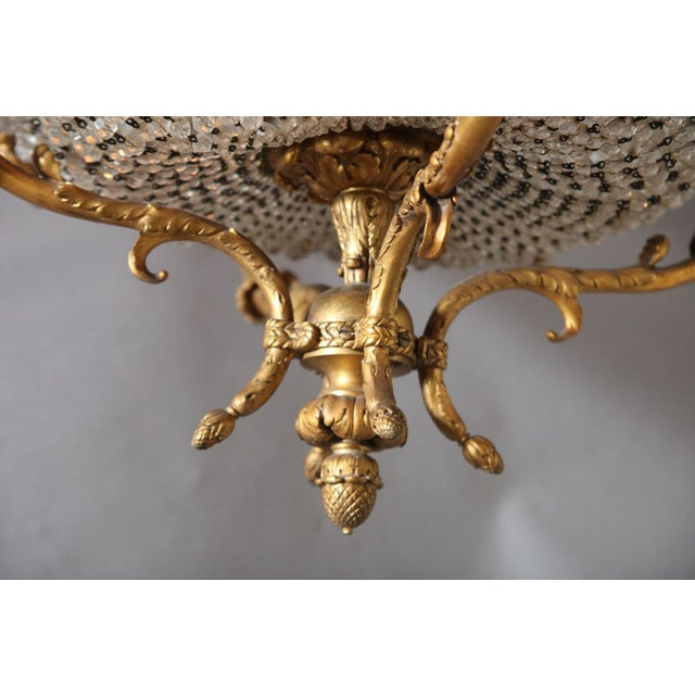 Fine Bronze and Crystal Period Empire Chandelier For Sale - Image 4 of 10