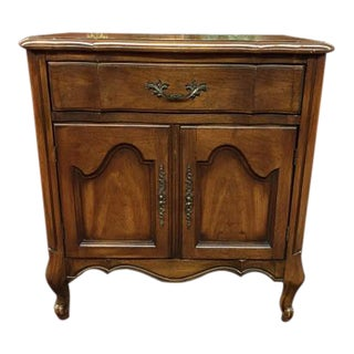 White Fine Furniture French Provincial Nightstand For Sale