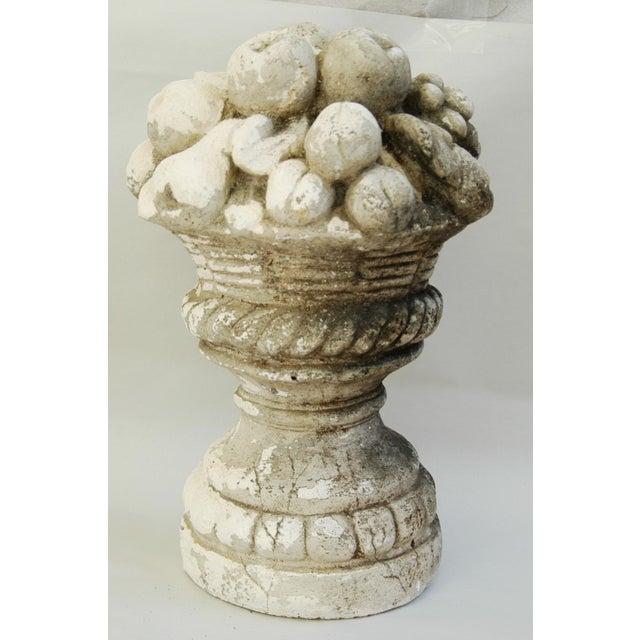 Mid-Century Plaster Vase Sculpture with Fruit Centerpiece - Image 3 of 11