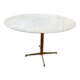 Mid Century Italian Calacatta Marble Dining Table by Ignazio Gardella For Sale