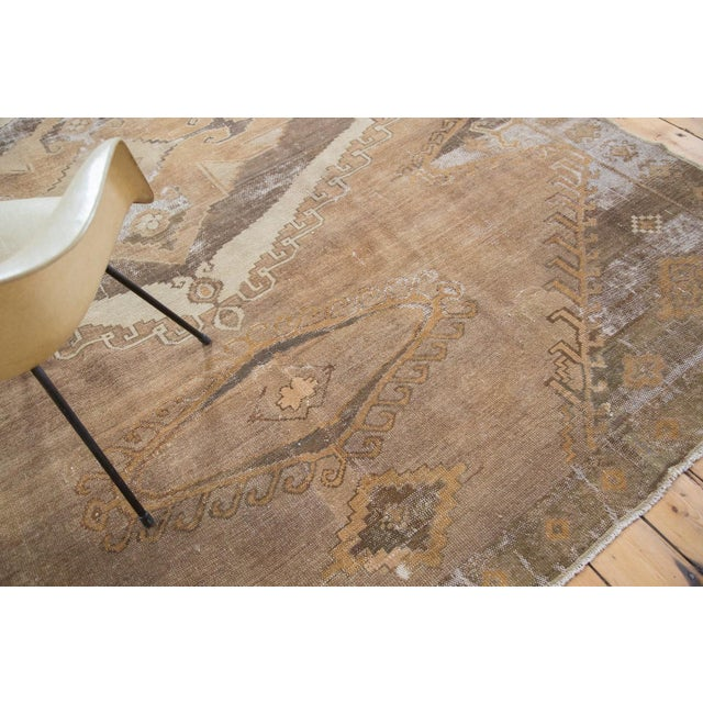 "Distressed Oushak Carpet - 7'10"" X 11' - Image 9 of 9"