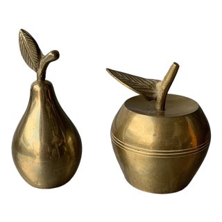 Vintage Brass Fruit Bells- a Pair For Sale