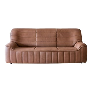 Original De Sede Model Ds84 Sofa in Cognac Buffalo Leather, 1970s For Sale