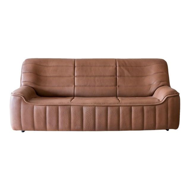 Original De Sede Model Ds84 Sofa in Cognac Buffalo Leather, 1970s For Sale