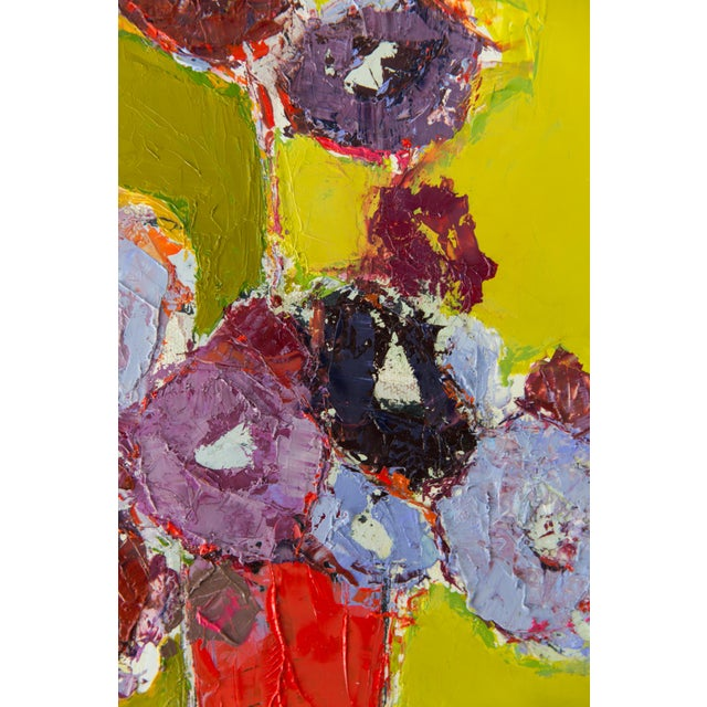 Abstract floral painting oil on canvas by Bill Tansey.