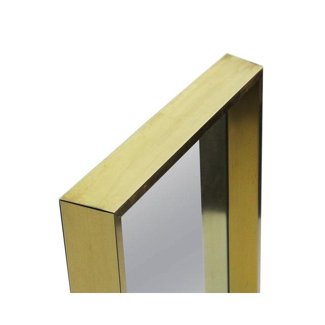 Mastercraft Rectangular Goldtone Mirror For Sale - Image 4 of 7